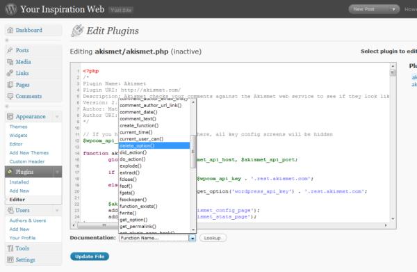 documentazione sulle funzioni utilizzate nei temi e nei plugin