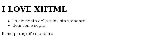 pagina html con errore, ma visualizzata correttamente