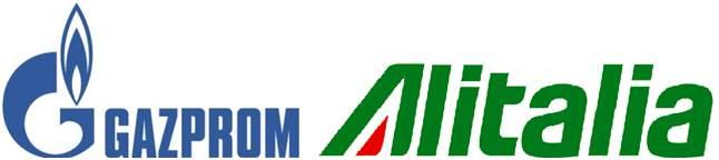 Figura 3 - Marchi Gazprom & Alitalia