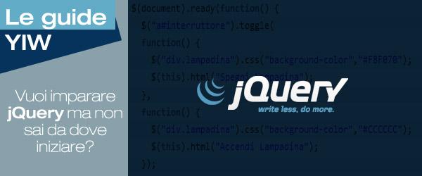 Vuoi imparare jQuery ma non sai da dove iniziare? Gli stili inline, gli effetti predefiniti