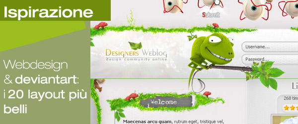 Webdesign by deviantart: creatività sconosciute