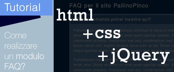 Dall'HTML al jQuery: come mostrare/nascondere dei box in una pagina web?