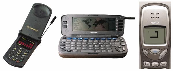 Figura 5 - StarTac Motorola ; Nokia N900i - Snake sul Nokia 3210