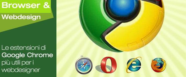 Google Chrome: quali sono le estensioni più utili per i web designer?