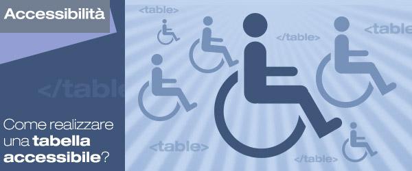 Come e perché realizzare una tabella accessibile?