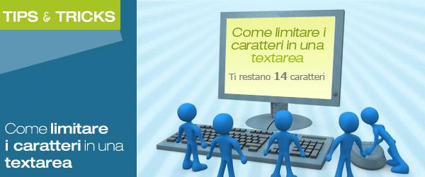 Come limitare i caratteri in una textarea?