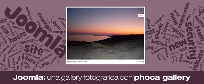 Joomla: come inserire una galleria di immagini nel nostro sito?