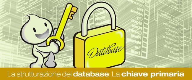 La strutturazione dei database (1/3): La chiave primaria