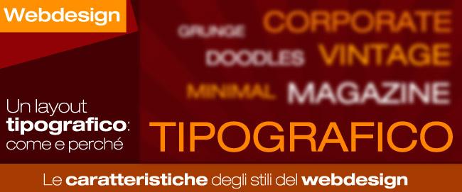 Un layout in stile tipografico: consigli ed esempi