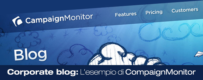 Corporate blog: L'esempio di CompaignMonitor