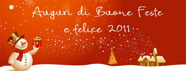 Auguri di Buone Feste e Felice 2011 a tutti i lettori di YIW