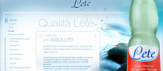 I testi del sito Lete sono difficilmente leggibili