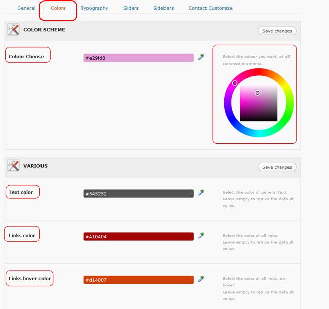 Figura 24 - Selezione del colore mediante color picker.