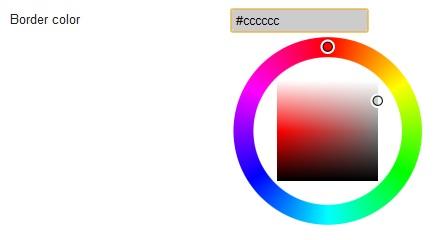 Il color picker per i bordi delle immagini