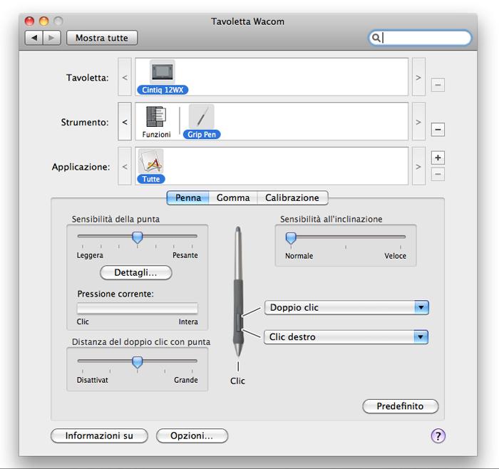 Personalizzazione strumento penna