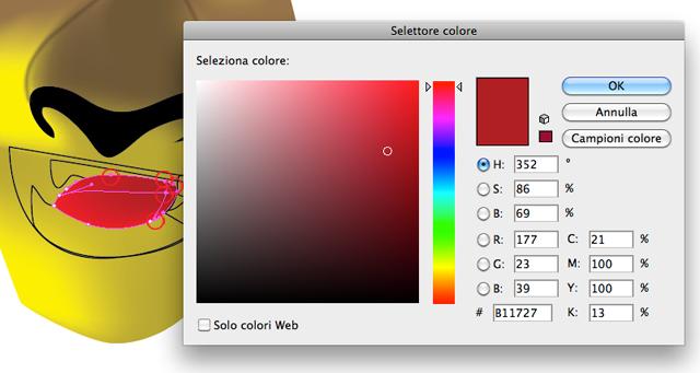 Colore rosso scuro