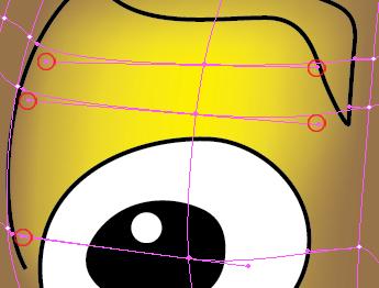 Modifica punti ancoraggio occhio destro