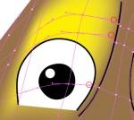 Modifica punti ancoraggio occhio sinistro