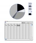 esempio inserimento valori in un grafico a torta