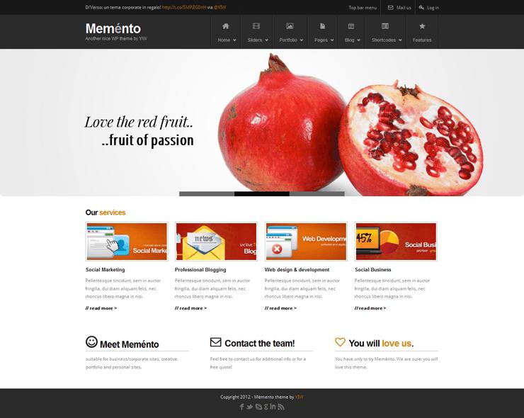 Template HTML FREE: Memento - Home 02