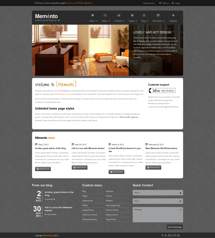 Template HTML FREE: Memento - Home 04