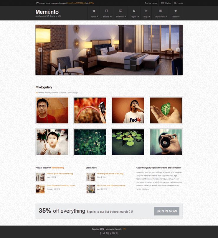 Template HTML FREE: Memento - Home 05