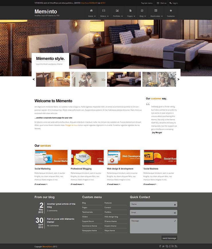 Template HTML FREE: Memento - Home 06