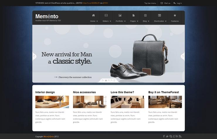 Template HTML FREE: Memento - Home 07