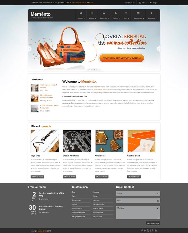 Template HTML FREE: Memento - Home 09
