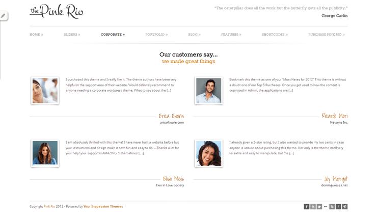 PinkRio Tema WordPress FREE minimal e responsive 10