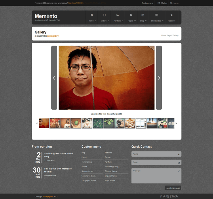 Template HTML FREE: Memento - Home 12