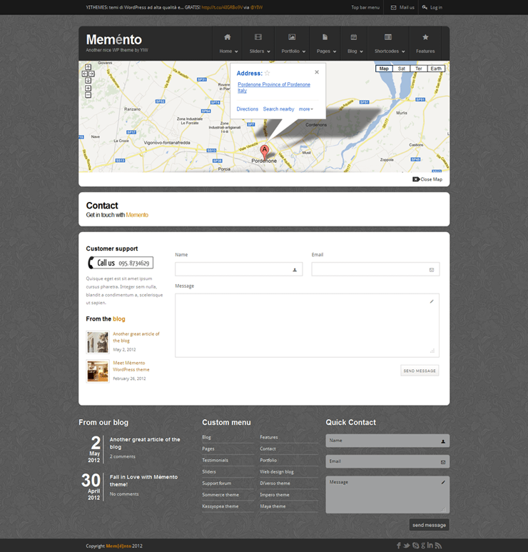 Template HTML FREE: Memento - Home 14