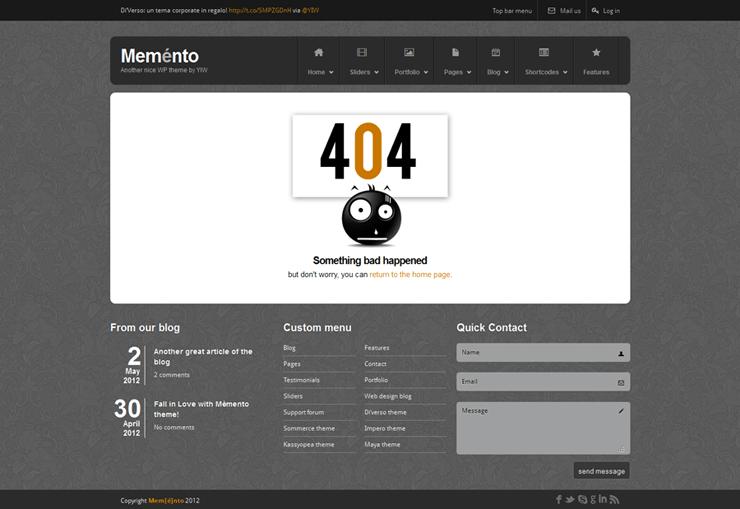 Template HTML FREE: Memento - Home 15