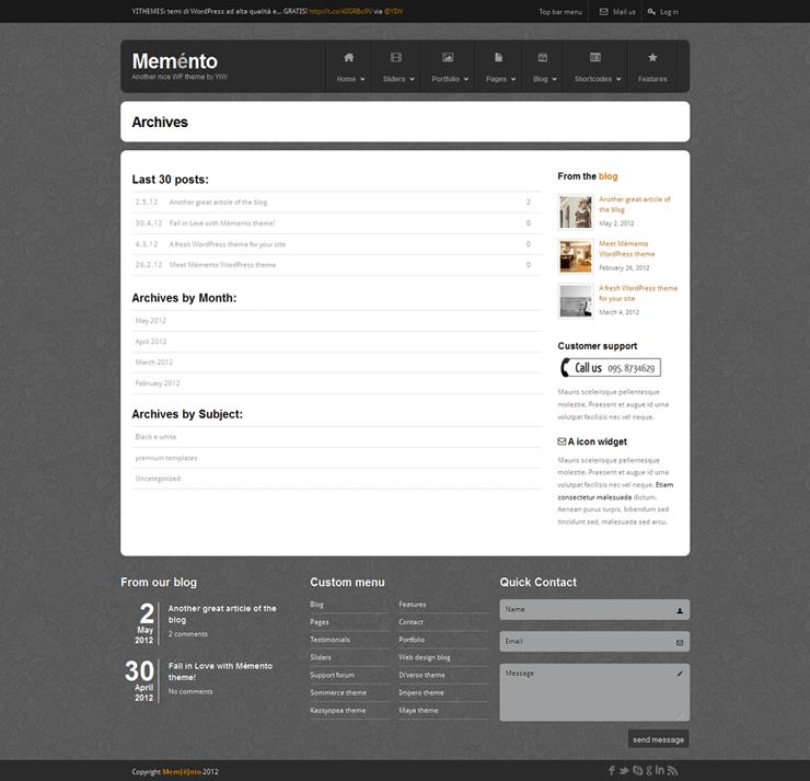 Template HTML FREE: Memento - Home 16