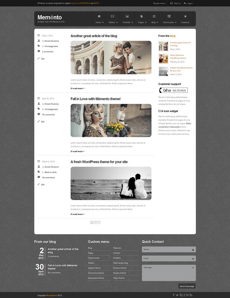 Template HTML FREE: Memento - Home 17