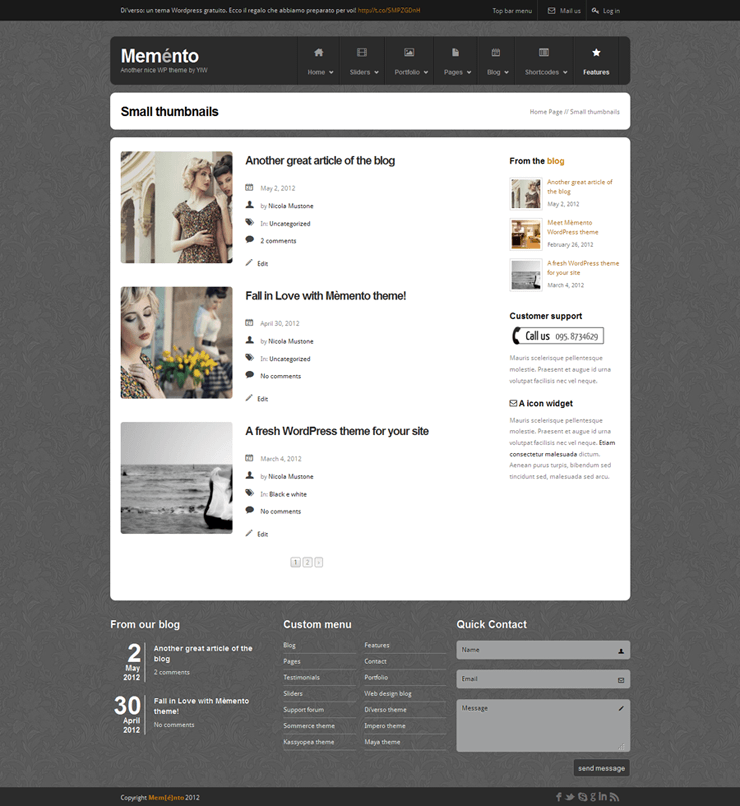 Template HTML FREE: Memento - Home 18