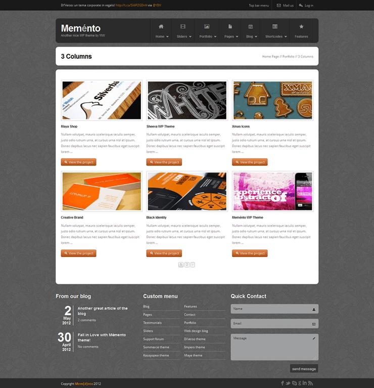 Template HTML FREE: Memento - Home 19