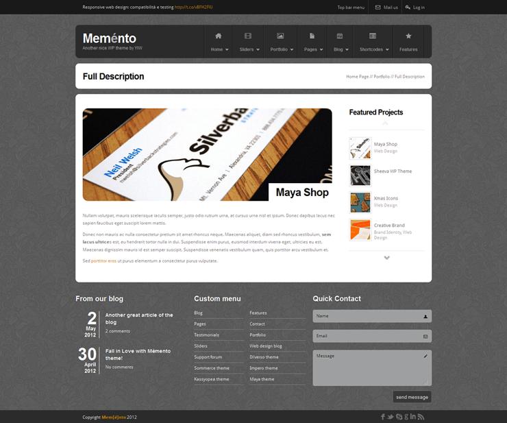 Template HTML FREE: Memento - Home 22