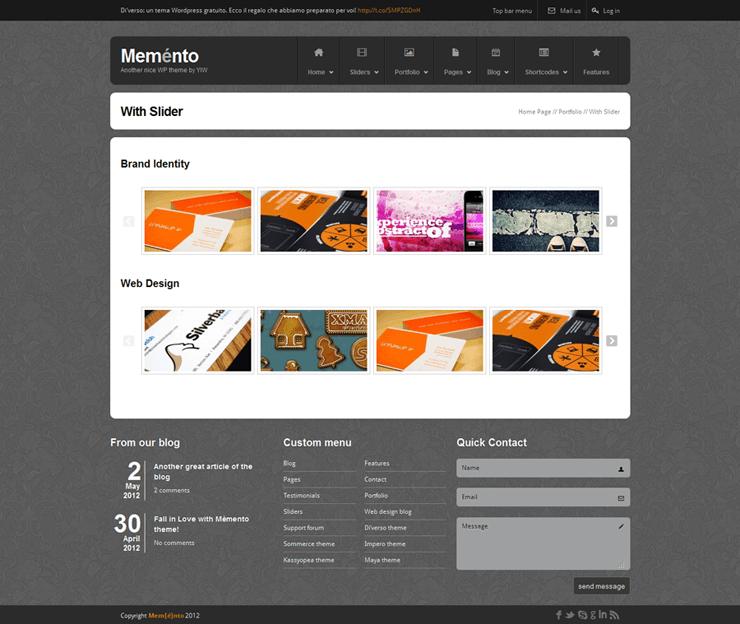 Template HTML FREE: Memento - Home 23