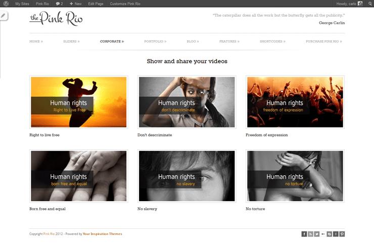 PinkRio Tema WordPress FREE minimal e responsive 24