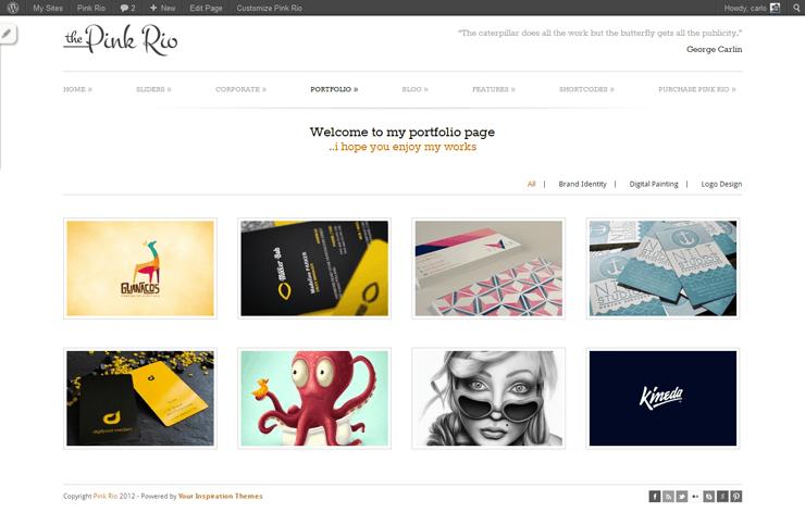 PinkRio Tema WordPress FREE minimal e responsive 26