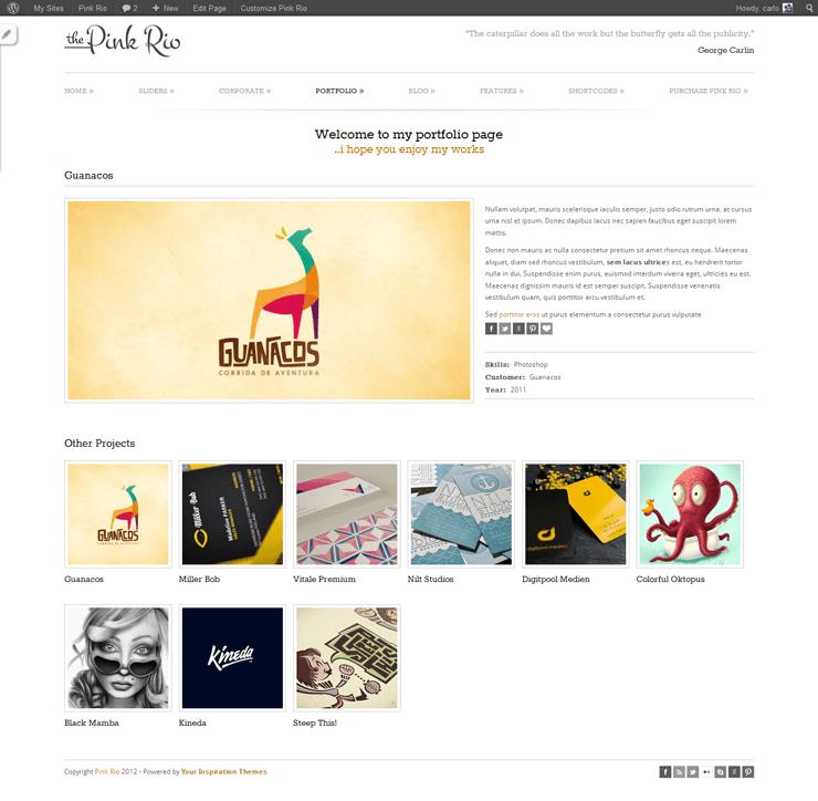 PinkRio Tema WordPress FREE minimal e responsive 28