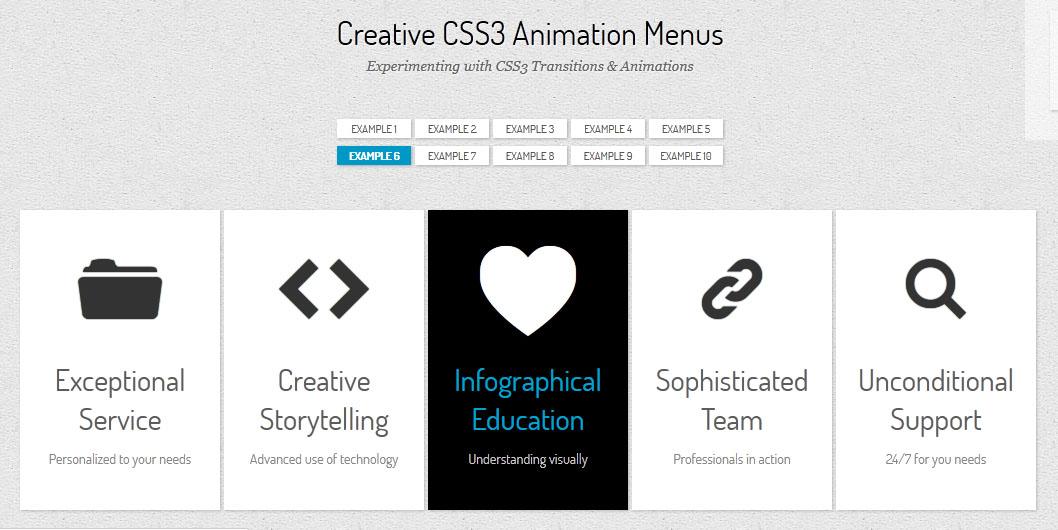 Font con icone in banner animati