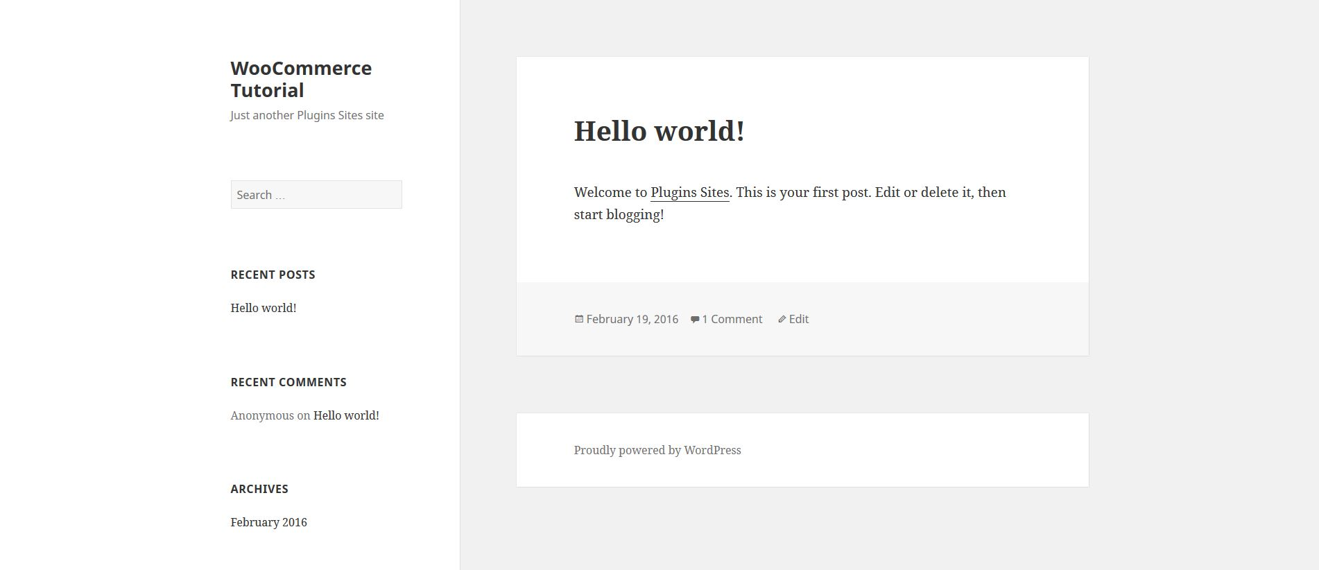 Hello World WordPress