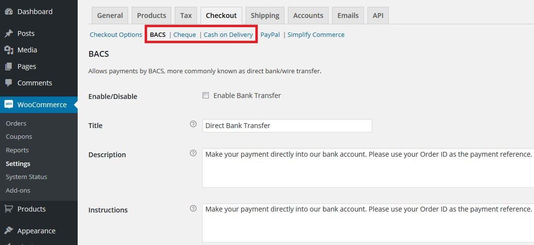 Altri metodi pagamento WooCommerce