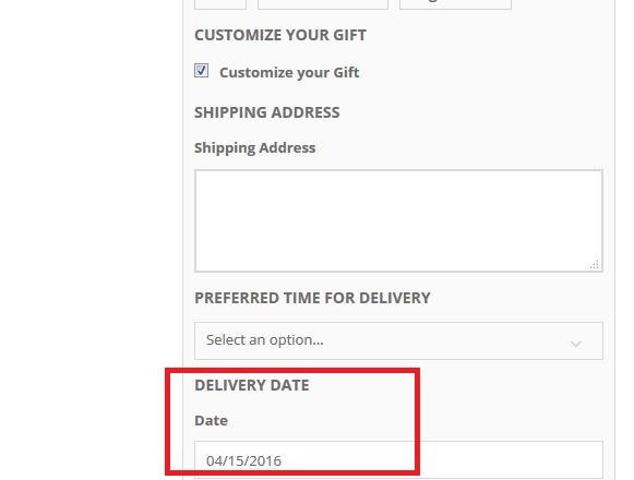 Data di consegna