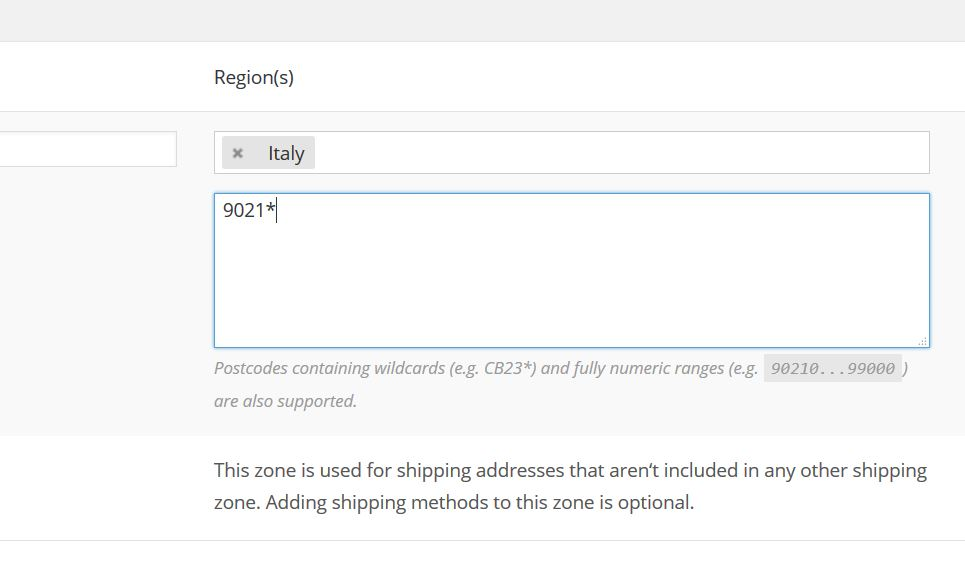 Zipcode radice