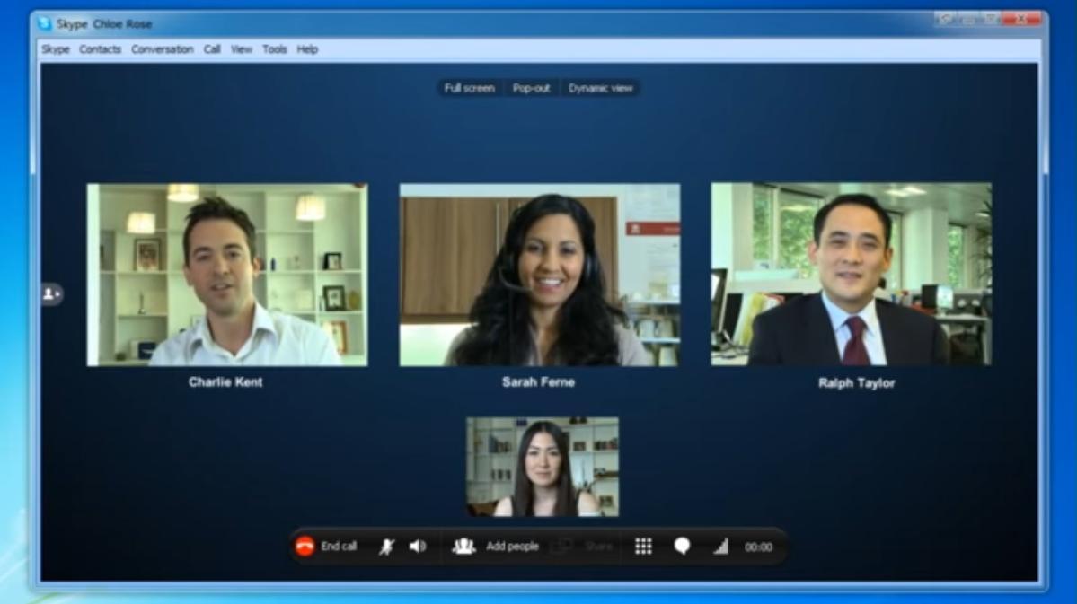 Videochiamata di gruppo su skype
